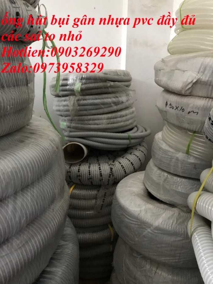 Ống hút bụi gân nhựa Pvc - ống nhựa hút bụi xoắn  - ống nhựa hút bụi công nghiệp D300, D250, D200, D168, D150, D120, D114, D100, D90, D76, D65, D60, D50, D40, D34, D2537