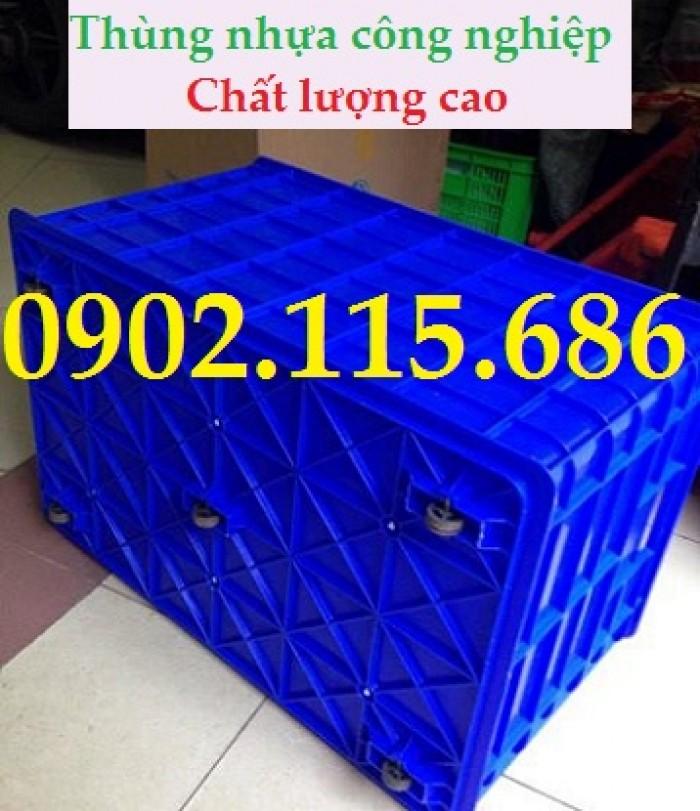 Thùng nhựa kéo hàng nặng, thùng nhựa có bánh xe,thùng nhựa công nghiệp,thùng nhựa đựng hàng nặng,1