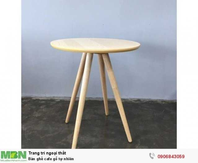 Bàn ghế cafe gỗ tự nhiên0