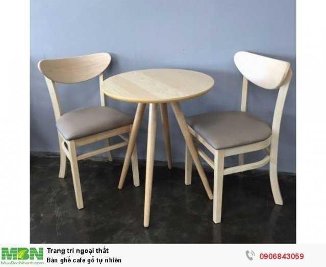 Bàn ghế cafe gỗ tự nhiên2