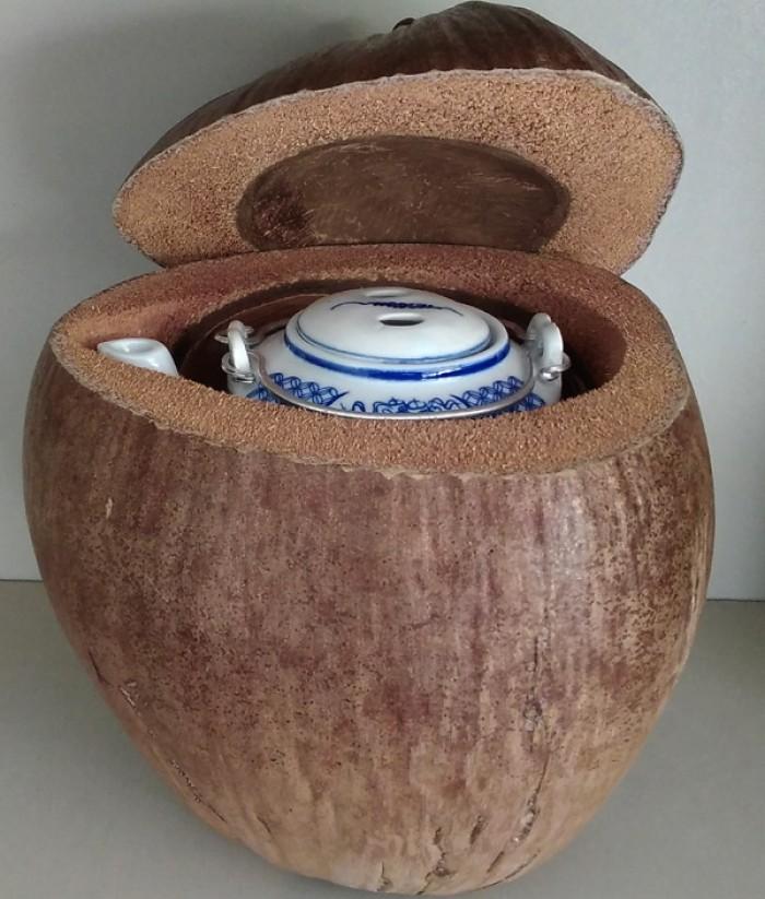Combo: Vỏ + bình trà trái dừa (Bình trà 0,5-0,75 lít)3