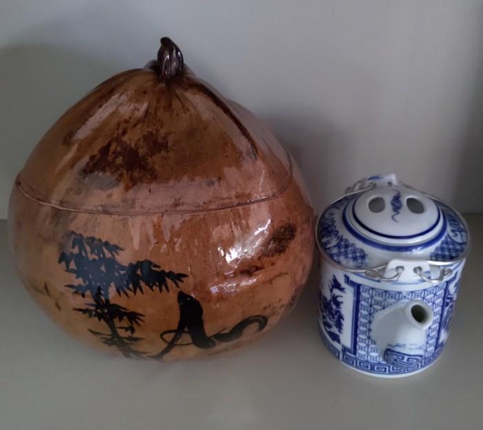 Combo Vỏ + bình trà trái dừa hoa văn chữ: An-Tâm-Nhẫn-Phát-Hiếu5