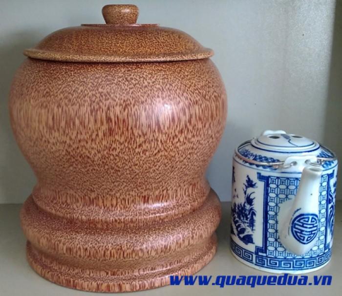 Combo: Bộ vỏ + bình trà gỗ dừa2