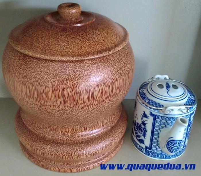 Combo: Bộ vỏ + bình trà gỗ dừa1