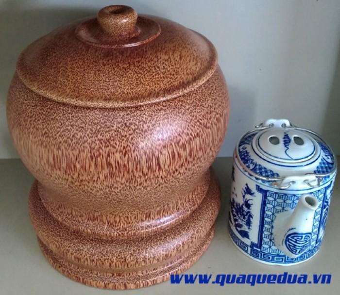 Combo: Bộ vỏ + bình trà gỗ dừa3