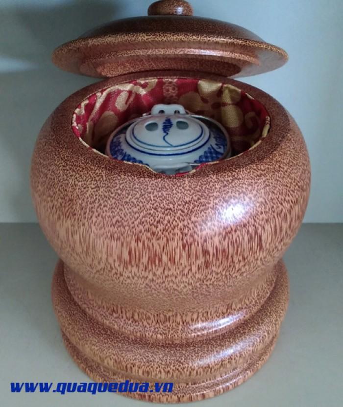 Combo: Bộ vỏ + bình trà gỗ dừa4