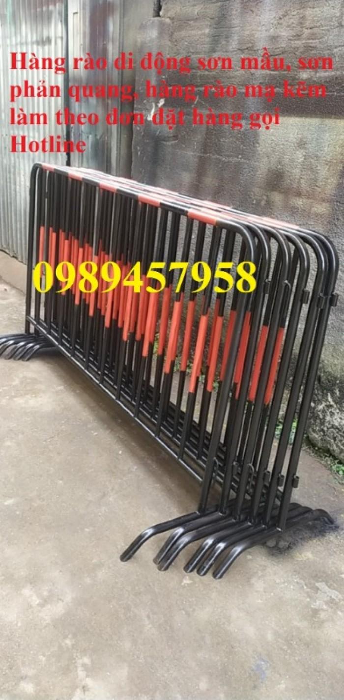 Gia công hàng rào chắn tạm thời, Hàng rào giãn cách dịch Covid 1,2mx2m, 1mx2m12