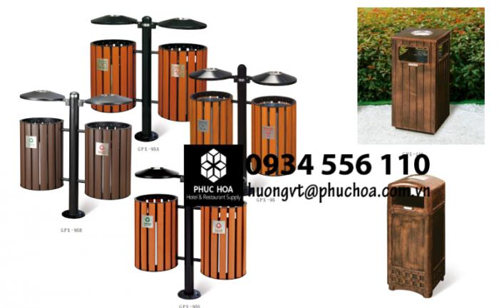 Các mẫu thùng rác gỗ ngoài trời3