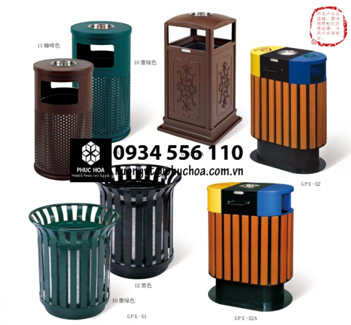 thùng rác gỗ Chinasouth để ngoài trời cho dự án4