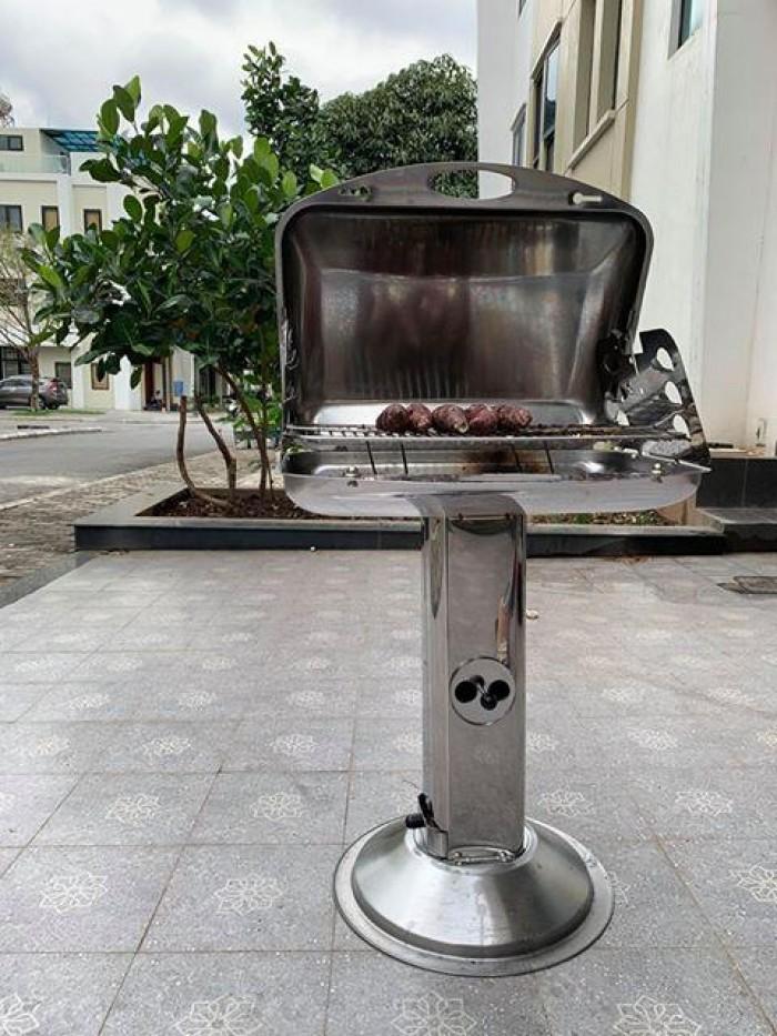 Bếp nướng ngoài trời than hoa Phù Đổng CK585 có lắp đậy1