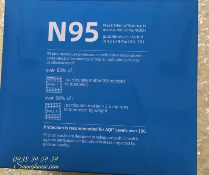 Khẩu Trang N95 Hàng chuẩn xuất khẩu có FDA để xuất Mỹ -Suonghouse7