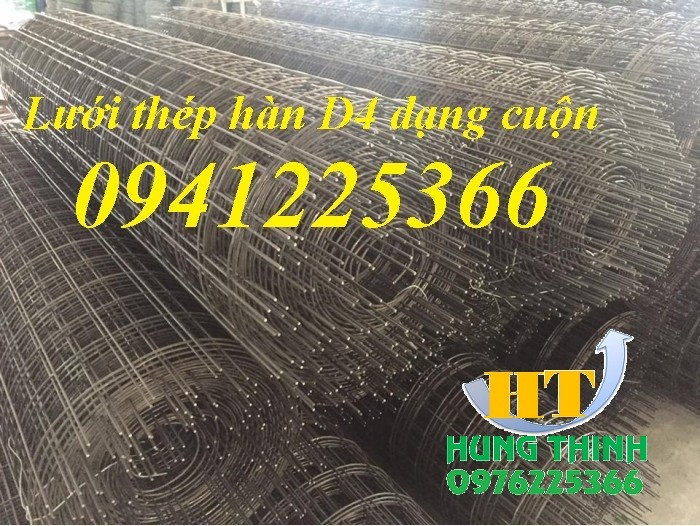 Lưới thép hàn D4 a200, lưới thép hàn dạng tấm, dạng cuộn2