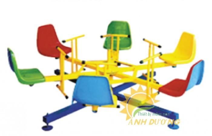 Chuyên cung cấp trò chơi đu quay trẻ em cho trường mầm non giá rẻ, chất lượng cao2