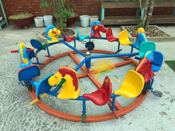 Chuyên cung cấp trò chơi đu quay trẻ em cho trường mầm non giá rẻ, chất lượng cao8