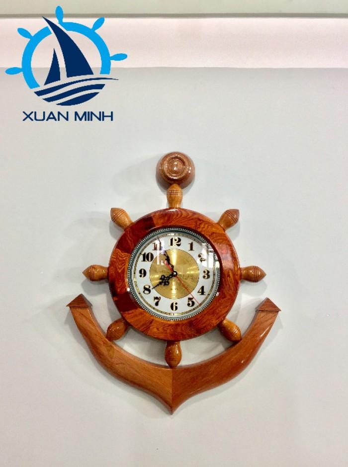 Mô hình Mỏ Neo Tàu Gỗ Trang Trí Có Đồng hồ Size 50-60cm
