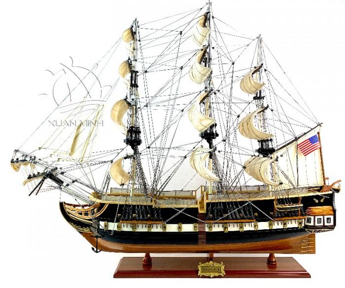 Mô hình Thuyền Chiến Cổ Các Loại Dài 90-100cm - Gỗ Căm Xe Sơn Màu