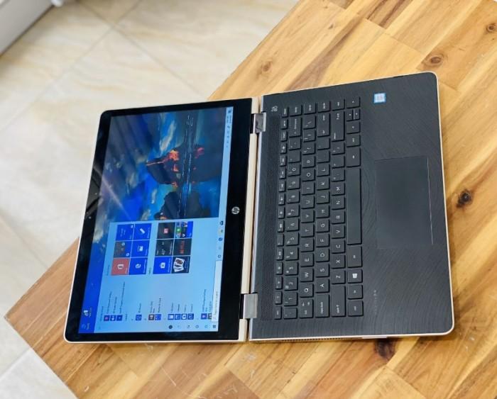 Laptop Hp Pavilion X360 14-u103tu, i3 7100U 4G SSD128-500G Toud xoay 360 độ Màu GOLD Keng1