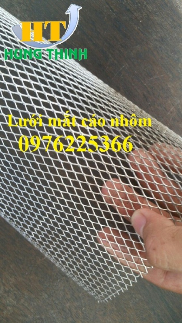 Lưới kẽo giãn nhôm, lưới thép hình thoi bằng nhôm, lưới mắt cáo nhôm4