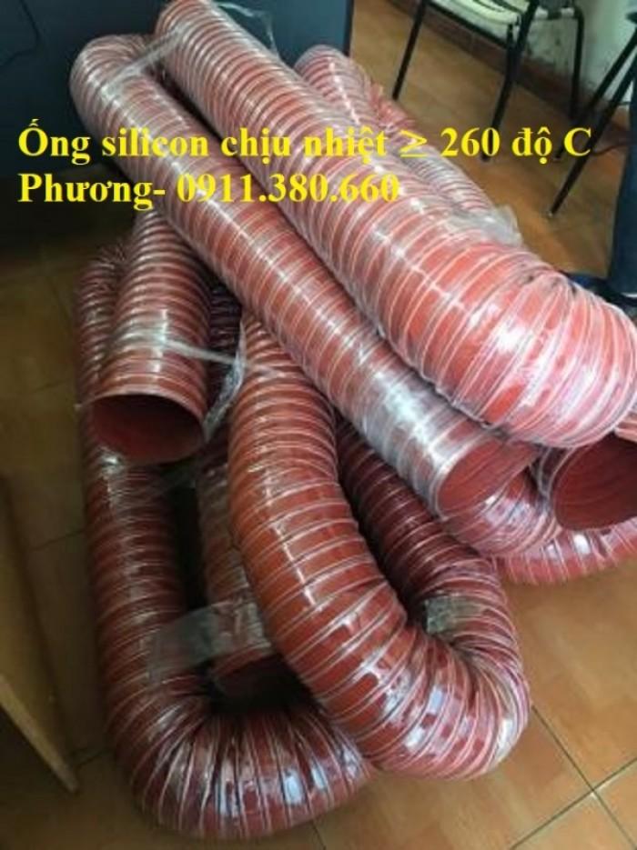Ống Dẫn Silicon Chịu Nhiệt Độ Cao, Dẫn Khí Nóng ≥ 260 Độ4