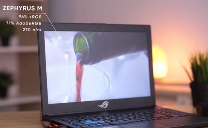 Laptop Asus Rog Zephyrus M GM501GS, i7 8750H 32G SSD512+1T GTX1070 144hz Full Box BH Hãng 12/20203