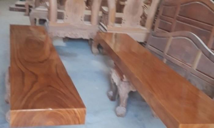 Cần bán bộ bàn ghế gỗ gõ đỏ nguyên khối giá 85tr - 0986 951 1790