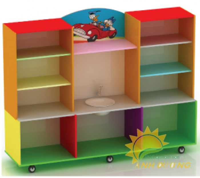 Chuyên cung cấp kệ gỗ trẻ em cho trường lớp mầm non, gia đình11
