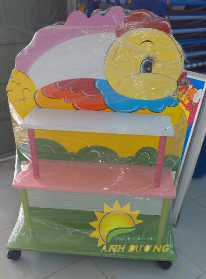 Chuyên cung cấp kệ gỗ trẻ em cho trường lớp mầm non, gia đình16