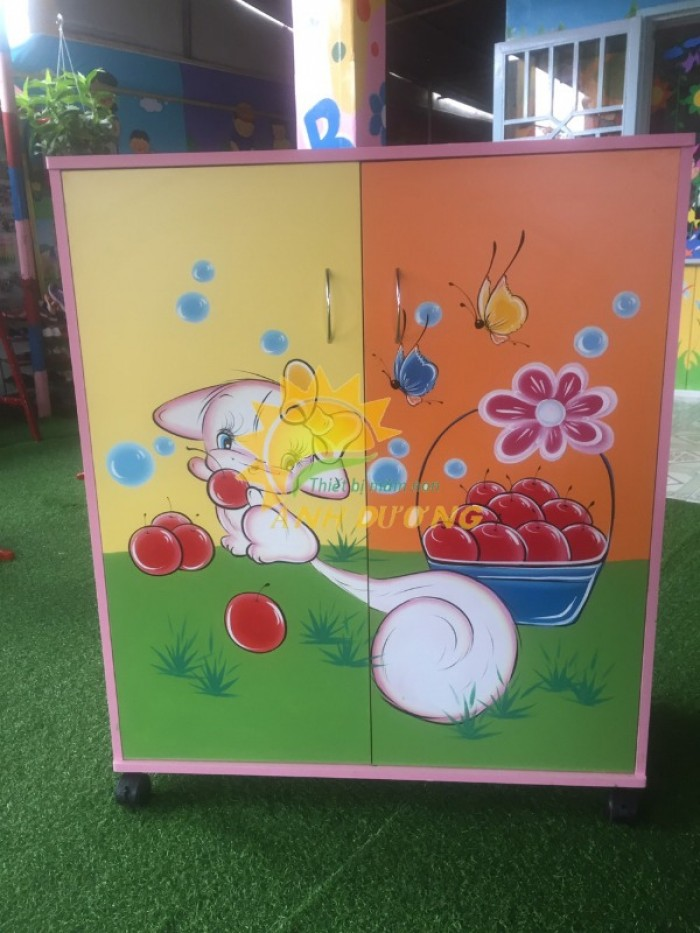 Cần bán tủ gỗ, tủ nhựa trẻ em cho trường lớp mầm non, gia đình11