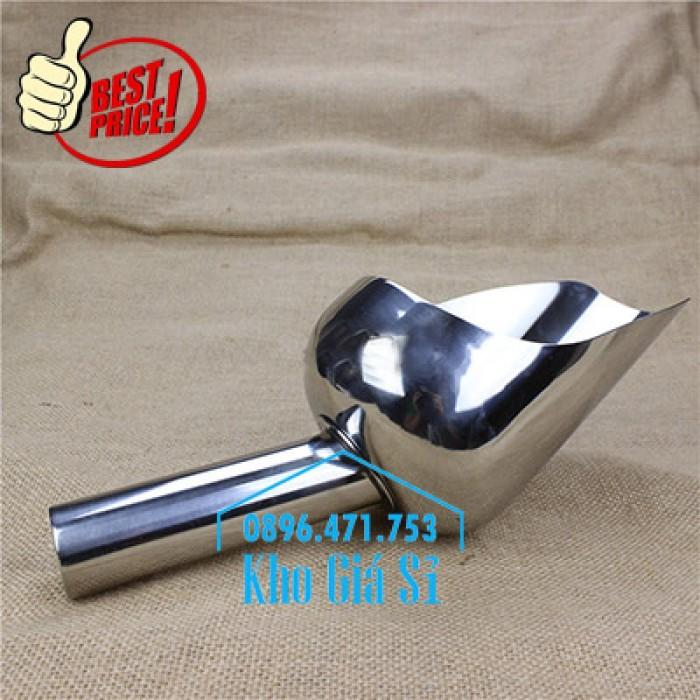 Dụng cụ chuyên dụng xúc bột, xúc muối, xúc gạo, xúc hóa chất bằng inox 304 cao cấp không rỉ3