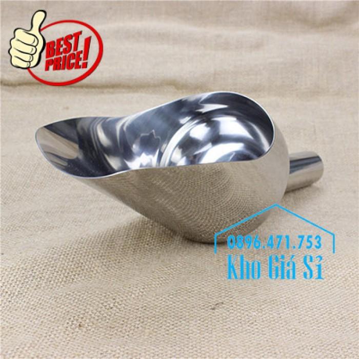 Dụng cụ chuyên dụng xúc bột, xúc muối, xúc gạo, xúc hóa chất bằng inox 304 cao cấp không rỉ4