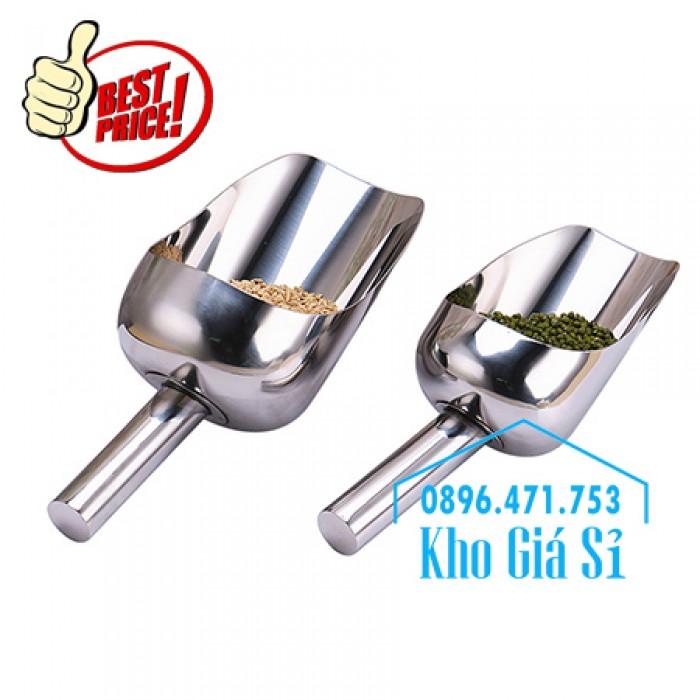 Dụng cụ chuyên dụng xúc bột, xúc muối, xúc gạo, xúc hóa chất bằng inox 304 cao cấp không rỉ11