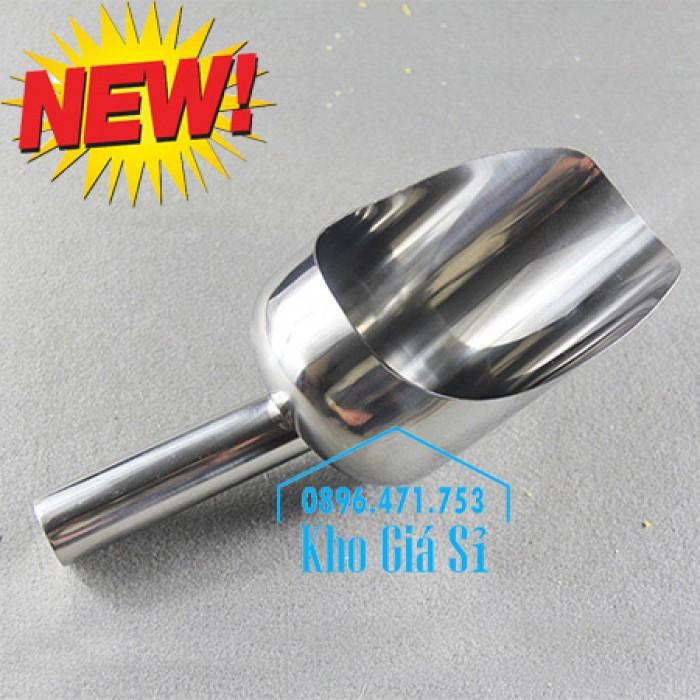 Dụng cụ chuyên dụng xúc bột, xúc muối, xúc gạo, xúc hóa chất bằng inox 304 cao cấp không rỉ16