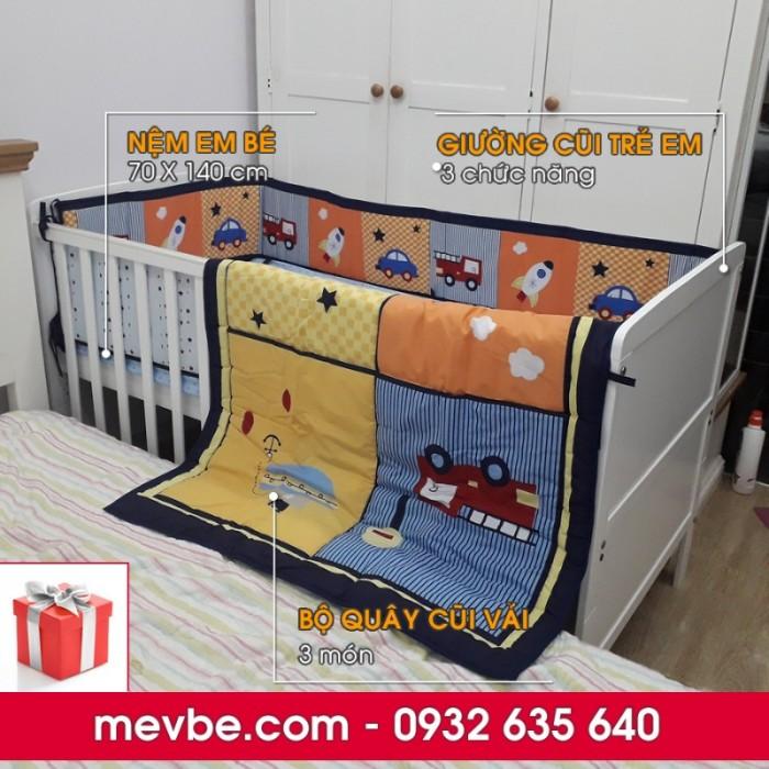 Cũi cho bé Marlow trắng gồm 3 chức năng sử dụng như dùng làm cũi trẻ em từ 0 đến 24 tháng, giường cũi cho trẻ nhỏ từ 18 tháng trở lên và ghế salon khi trẻ lớn hơn (tùy theo sự phát triển và thể trạng của từng bé)0