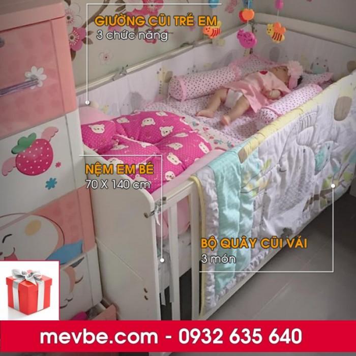Cũi cho bé Marlow trắng gồm 3 chức năng sử dụng như dùng làm cũi trẻ em từ 0 đến 24 tháng, giường cũi cho trẻ nhỏ từ 18 tháng trở lên và ghế salon khi trẻ lớn hơn (tùy theo sự phát triển và thể trạng của từng bé)2