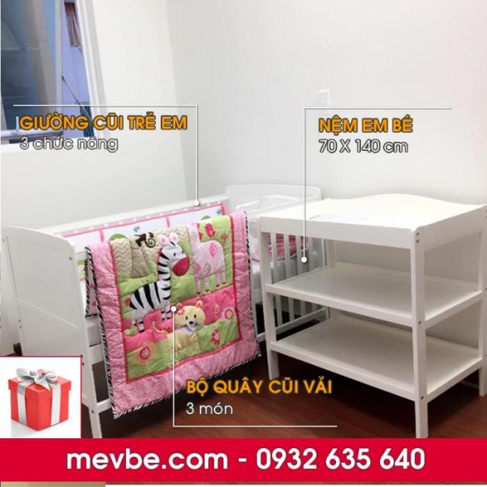 Cũi cho bé Marlow trắng gồm 3 chức năng sử dụng như dùng làm cũi trẻ em từ 0 đến 24 tháng, giường cũi cho trẻ nhỏ từ 18 tháng trở lên và ghế salon khi trẻ lớn hơn (tùy theo sự phát triển và thể trạng của từng bé)4