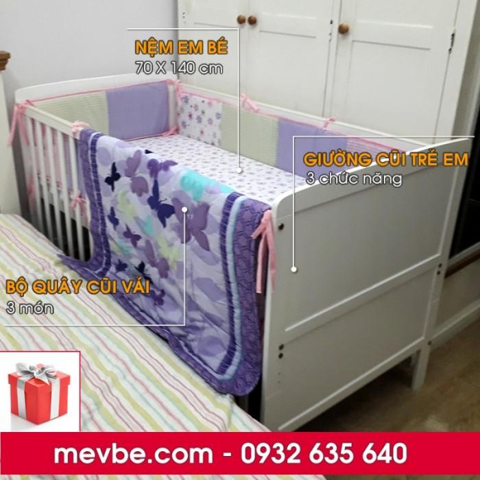 Cũi cho bé Marlow trắng gồm 3 chức năng sử dụng như dùng làm cũi trẻ em từ 0 đến 24 tháng, giường cũi cho trẻ nhỏ từ 18 tháng trở lên và ghế salon khi trẻ lớn hơn (tùy theo sự phát triển và thể trạng của từng bé)5