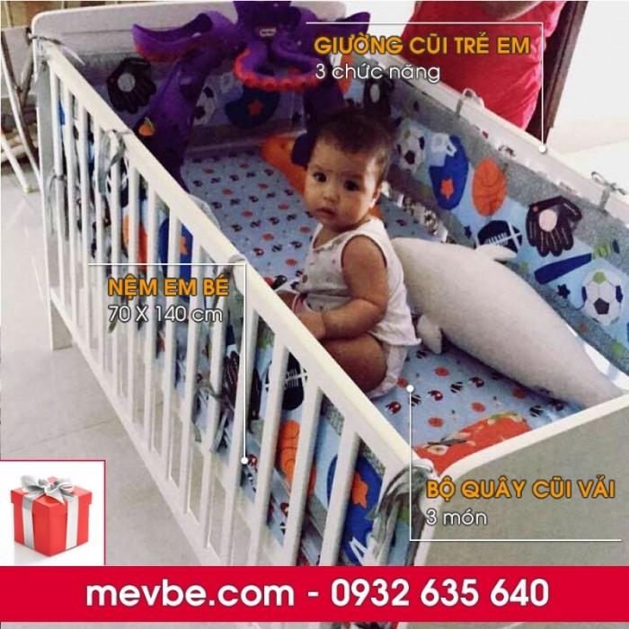 Cũi cho bé Marlow trắng gồm 3 chức năng sử dụng như dùng làm cũi trẻ em từ 0 đến 24 tháng, giường cũi cho trẻ nhỏ từ 18 tháng trở lên và ghế salon khi trẻ lớn hơn (tùy theo sự phát triển và thể trạng của từng bé)1