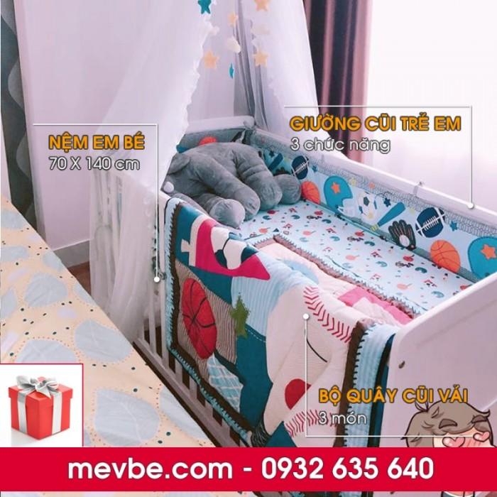 Cũi cho bé Marlow trắng gồm 3 chức năng sử dụng như dùng làm cũi trẻ em từ 0 đến 24 tháng, giường cũi cho trẻ nhỏ từ 18 tháng trở lên và ghế salon khi trẻ lớn hơn (tùy theo sự phát triển và thể trạng của từng bé)6