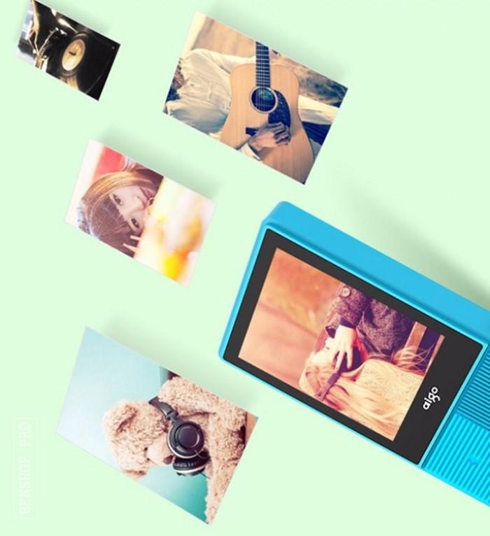 Máy nghe nhạc mini Aigo MP3-206 (Tặng kèm thẻ nhớ 8Gb)5