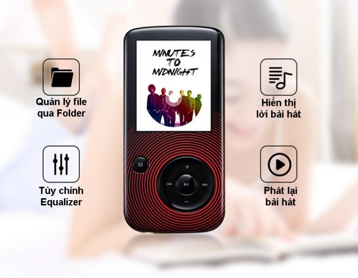 Máy nghe nhạc Lossless Bluetooth Aigo MP3-209 (Tặng thẻ nhớ 8Gb và tai nghe)5