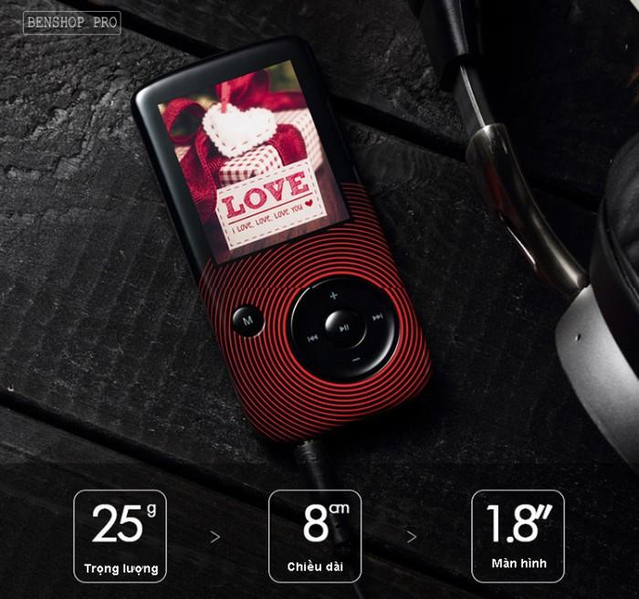 Máy nghe nhạc Lossless Bluetooth Aigo MP3-209 (Tặng thẻ nhớ 8Gb và tai nghe)17