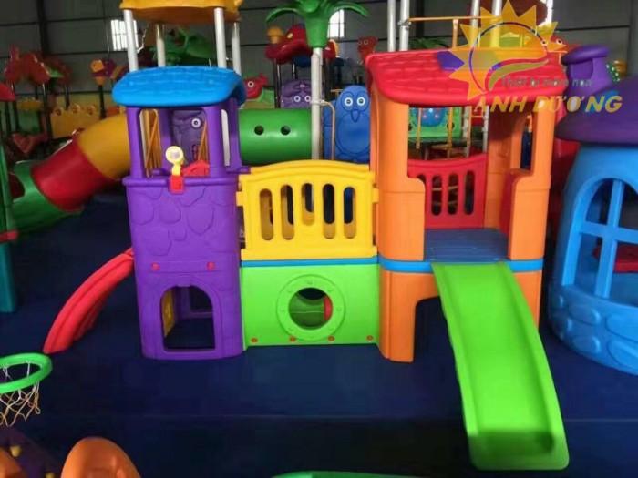 Các bộ liên hoàn cầu trượt trẻ em cho trường mầm non, sân chơi, công viên giá cực SỐC0
