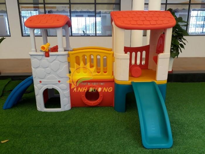 Các bộ liên hoàn cầu trượt trẻ em cho trường mầm non, sân chơi, công viên giá cực SỐC1