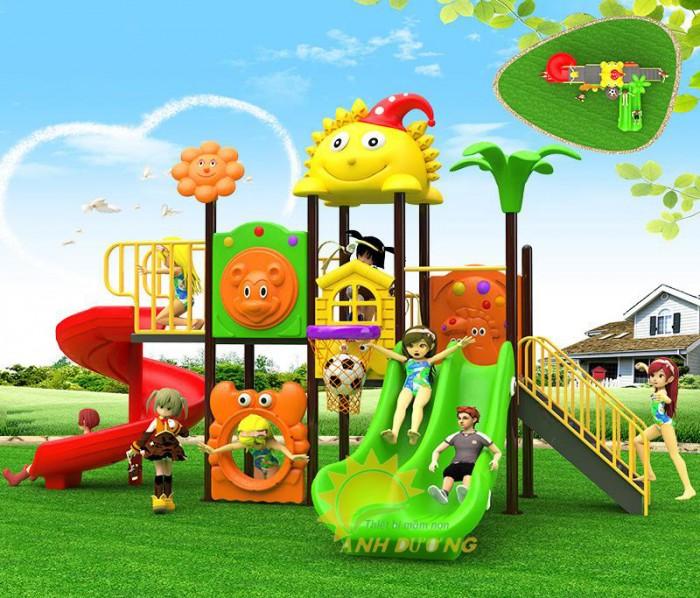 Các bộ liên hoàn cầu trượt trẻ em cho trường mầm non, sân chơi, công viên giá cực SỐC10