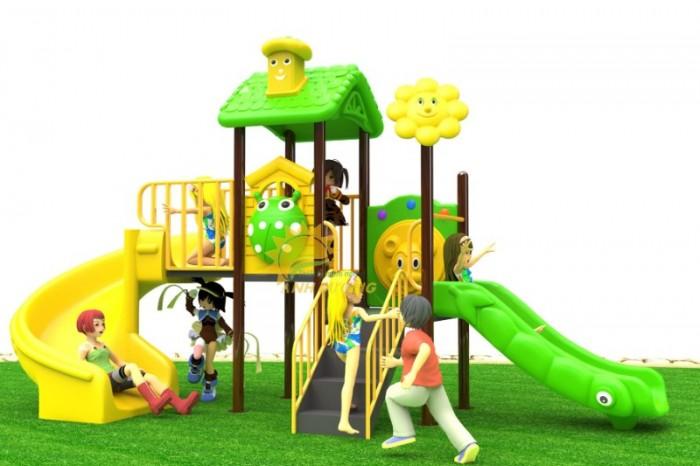 Các bộ liên hoàn cầu trượt trẻ em cho trường mầm non, sân chơi, công viên giá cực SỐC3