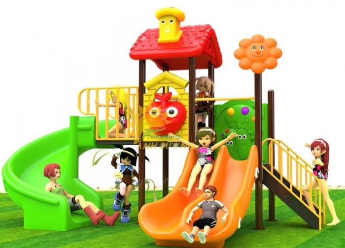 Các bộ liên hoàn cầu trượt trẻ em cho trường mầm non, sân chơi, công viên giá cực SỐC4