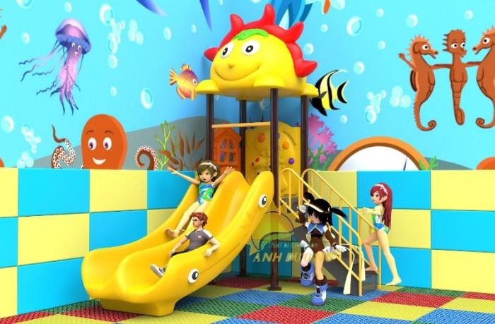 Các bộ liên hoàn cầu trượt trẻ em cho trường mầm non, sân chơi, công viên giá cực SỐC9