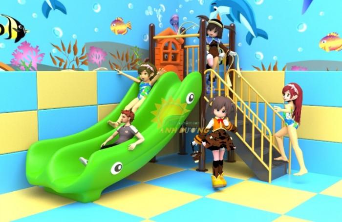 Các bộ liên hoàn cầu trượt trẻ em cho trường mầm non, sân chơi, công viên giá cực SỐC5