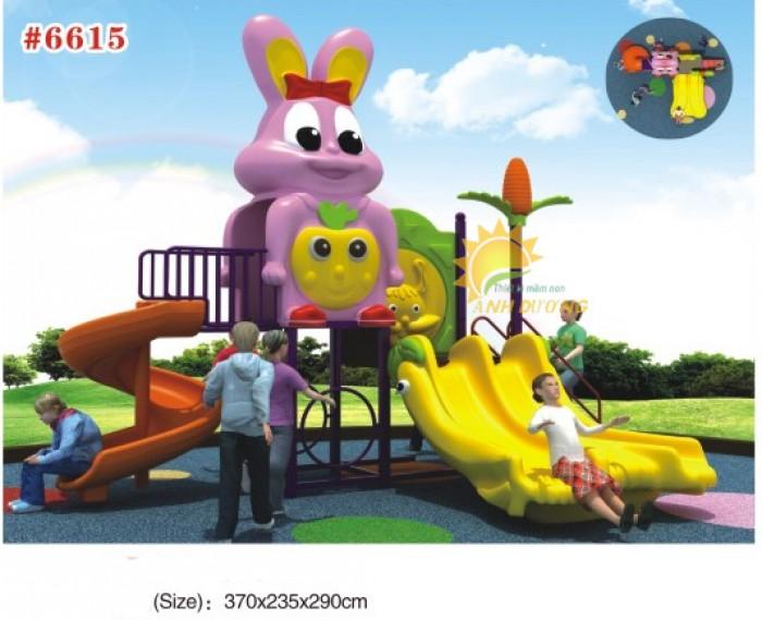 Các bộ liên hoàn cầu trượt trẻ em cho trường mầm non, sân chơi, công viên giá cực SỐC15