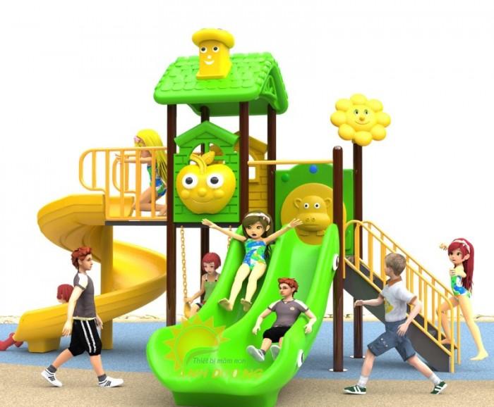 Các bộ liên hoàn cầu trượt trẻ em cho trường mầm non, sân chơi, công viên giá cực SỐC18